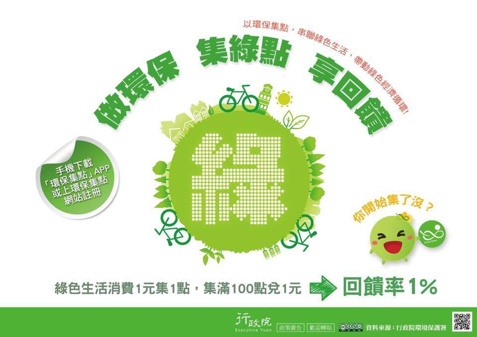做環保 集綠點 享回饋