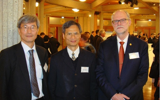 Ming-Jong Liou(C), OIML Vice-President Y. Miki(L) and BIML Assistant Director